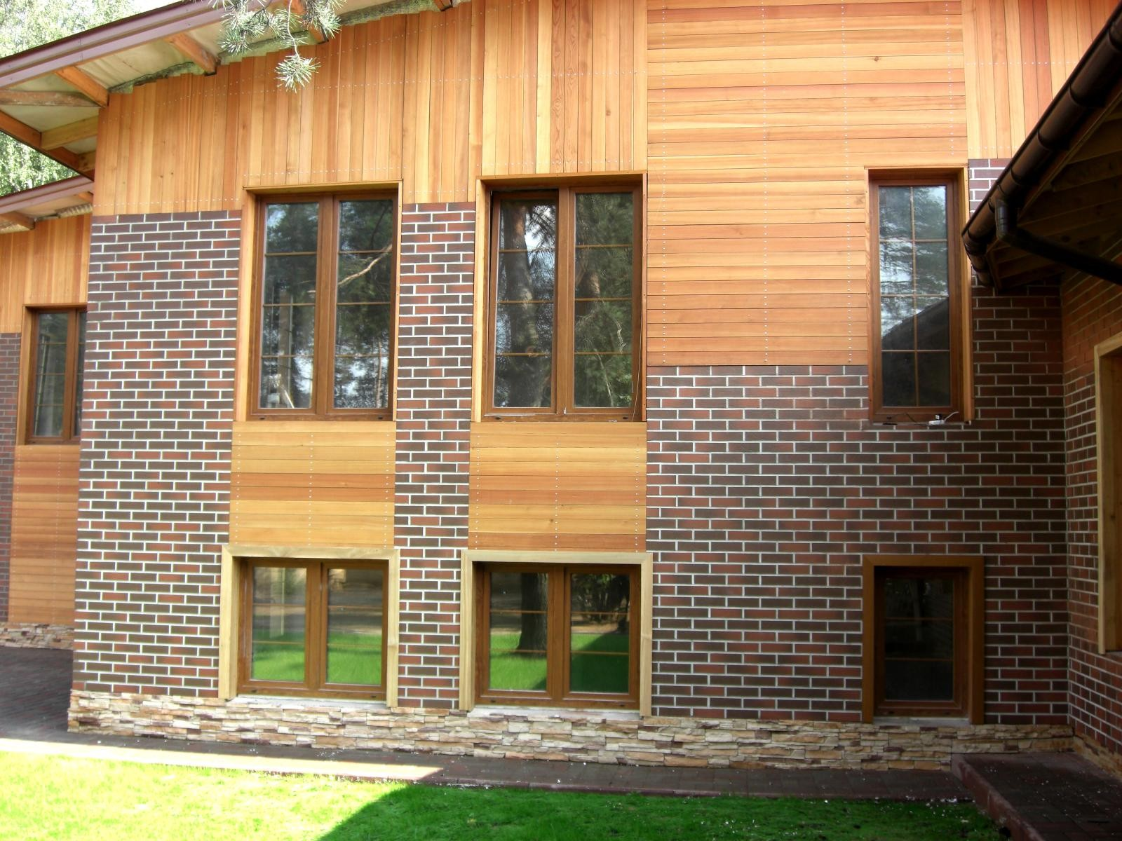 Дизайн фасадов из дерева