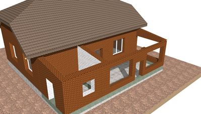 Как построить пристрой к кирпичному дому