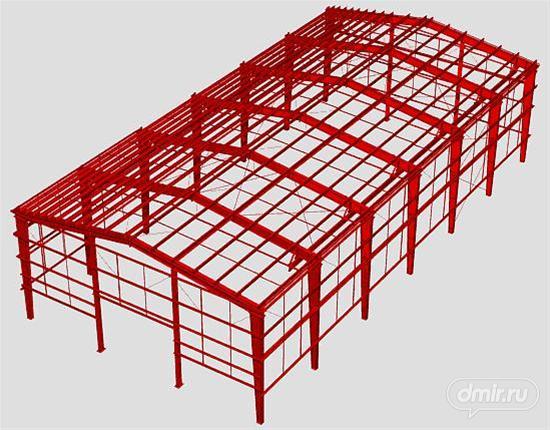 Ниже представлена принципиальная схема несущего каркаса здания выполненного из холодногнутых оцинкованных...